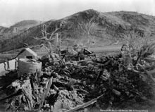 Haszard Family Home - After the eruption
